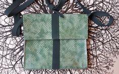 Little Bag in mint with green door Spoor68 op Etsy