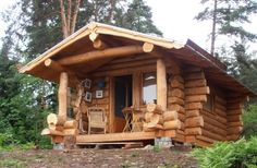 Looking for a Maison Bois Rond Fabricant. We have Maison Bois Rond Fabricant and the other about Maison Interieur it free. Tiny Log Cabins, Small Log Cabin, Tiny House Cabin, Log Cabin Homes, Cabins And Cottages, Cozy Cabin, Cabins In The Woods, House In The Woods, Small Log Homes