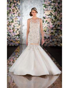 Traîne moyenne Scintillant & brillant Perle Robes de mariée 2014