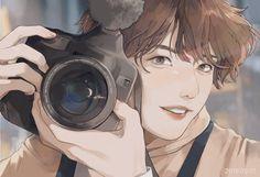 Fanart Bts, Jungkook Fanart, Kpop Drawings, Wow Art, Bts Chibi, Bts Fans, Fanarts Anime, Pretty Art, Fantasy