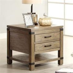 Riverside Bay Cliff Rect End Table