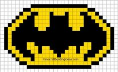 MINECRAFT PIXEL ART – One of the most convenient methods to obtain your imaginative juices flowing in Minecraft is pixel art. Pixel art makes use of various blocks in Minecraft to develop pic… Batman Logo, Batman Pixel Art, Pixel Pattern, Pattern Art, Pixel Art Logo, Pixel Art Minecraft, Minecraft Skins, Minecraft Buildings, Crochet Pixel