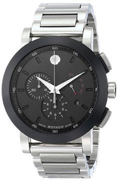 Movado Men's 0606792 Museum Sport Chrono Analog Display Swiss Quartz Silver Watch