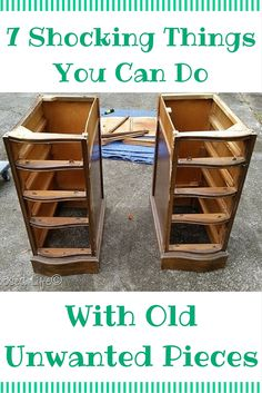 Pinterest: Kate Blank DIY 7 Beautifully Brilliant Home Hacks Anyone Can do - With Unwanted Furniture !