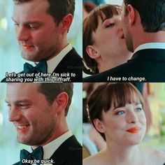 Ahahahha how cutee Fifty Shades Quotes, Fifty Shades Series, Fifty Shades Movie, Fifty Shades Darker, Fifty Shades Of Grey, It Movie Cast, Love Movie, Christian Grey Quotes, Cristian Grey