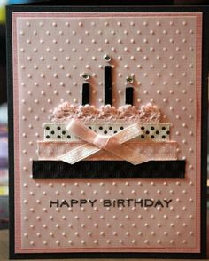 Ribbon Cake card - Club CK - The Online Community and Scrapbook Club from Creating Keepsakes