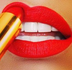 A bold lip. #beauty #lipstick