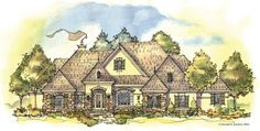 ePlans European House Plan – One Story Luxury– 2866 Square Feet and 3 Bedrooms from ePlans – House Plan Code HWEPL76114