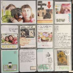 Project Life Visual Diary visual diary pages used to present ideas