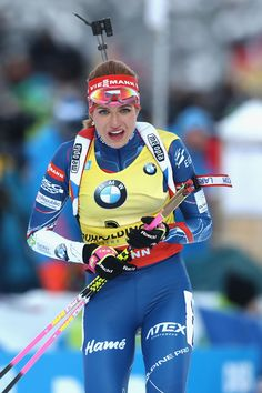 Gabriela Koukalova of Czech Republic   competes at the 10 km women's Pursuit during the IBU Biathlon World Cup at Chiemgau Arena on January 15, 2017 in Ruhpolding, Germany.