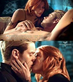 Clary and Jace in season 3 CLACE promo ❤❤❤❤❤ love this two together. Jace And Clary Kiss, Shadowhunters Clary And Jace, Shadowhunters Tv Series, Jace Lightwood, Shadowhunters The Mortal Instruments, Dominic Sherwood, Cassandra Clare, Vampires, The Dark Artifices