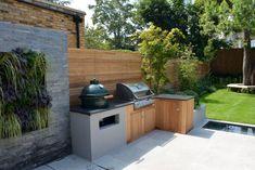 Back Garden Design, Modern Garden Design, Backyard Garden Design, Contemporary Garden, Landscape Design, Garden Bbq Ideas, Bbq Area Garden, Backyard Ideas, Barbeque Design