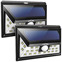 Litom Solar Lights Outdoor, Wireless 24 LED Motion Sensor Solar Lights with Wide Lighting Area, Easy Install Waterproof Security Lights for Front Door, Back Yar Garage Lighting, Cool Lighting, Outdoor Lighting, Lighting Ideas, Lighting Design, Solar Security Light, Outdoor Security Lights, Solar Powered Outdoor Lights, Solar Lights