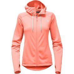 The North Face Women's Tech Mezzaluna Full Zip Hoodie, Size: Medium, Burnt Coral