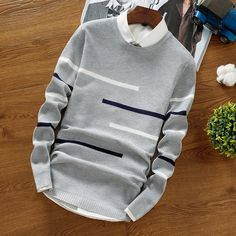 Mens Sweaters Wool Pullover Men Brand Clothing Casual O-Neck Sweater Men Dot Pattern Long Sleeve Cotton Shirt Male Male Sweaters, Men Sweater, Winter Sweaters, Sweater Outfits, Pullover Sweaters, Wear Store, Mens Fashion, Fashion Outfits, Fashion Hats