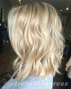 Blonde long bob