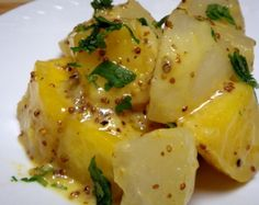 Turnips and Mustard Sauce