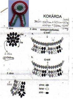 KOKÁRDÁK ÉS ZÁSZLÓ GYÖNGYBŐL ÉS HORGOLÁSSAL - tanitoikincseim.lapunk.hu Techno, Crochet Necklace, Crafts For Kids, Beads, Jewelry, March, Craft Ideas, Amigurumi, Creative
