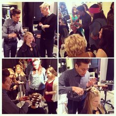Fantastic Oribe styling class today with Christian Ceja-Compin! #freshairsalon #freshairstylist #oribe #education #fayettevillear @Oribe Hair Care