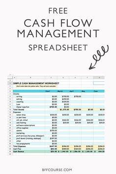 Healthy Cash Flow Management that Won't Freak You Out – Bankgeschäfte Cash Management, Business Management, Office Management, Wealth Management, Project Management, Business Entrepreneur, Business Tips, Entrepreneur Ideas, Etsy Business