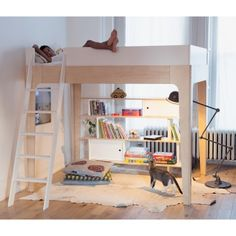 If you have problems with a lack of living space, bunk or loft beds are the ideal solution for you. Loft beds are always linked as beds for the children. Adult Bunk Beds, Loft Bunk Beds, Modern Bunk Beds, Bunk Beds With Stairs, Kids Bunk Beds, Mezzanine Design, Bed Unit, Double Bunk Beds, Bunk Bed Designs