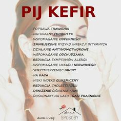 Pij kefir Health Diet, Health Fitness, Sixpack Training, Food Therapy, Smoothie Drinks, Sports Nutrition, Healthier You, Eat Right, Kefir