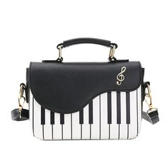 Fashion Wanita Bordir Kulit Wanita Kasual Tas Lucu Pola Piano Tas Bahu  Crossbody Messenger Bag Pouch 28931fe564