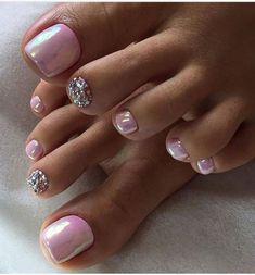 Pink Toe Nails, Simple Toe Nails, Pretty Toe Nails, Toe Nail Color, Summer Toe Nails, Cute Toe Nails, Toe Nail Art, Pretty Toes, Nail Pink