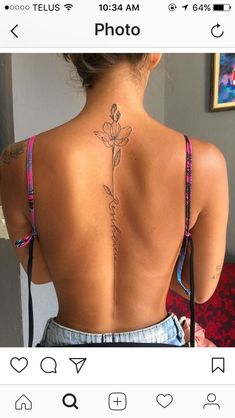 women back tattoos spine & women back tattoos ; women back tattoos full ; women back tattoos spine ; women back tattoos small ; women back tattoos classy ; women back tattoos shoulder ; women back tattoos cover up ; women back tattoos large Flower Spine Tattoos, Ribbon Tattoos, Flower Tattoo Back, Tattoo Flowers, Flower Tattoo Women, Tattoo Ideas Flower, Butterfly Thigh Tattoo, Simple Flower Tattoo, Tattoos For Women Flowers