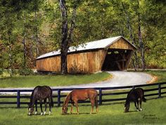 Old Covered Bridge by John Ward