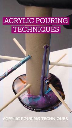 Diy Crafts To Do, Diy Crafts Hacks, Diy Arts And Crafts, Diys, Acrylic Pouring Art, Diy Painting, Pour Painting, Diy Décoration, Diy Canvas Art