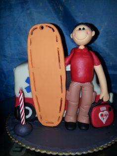 EMT ambulance cake