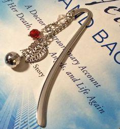 Shepherd bookmark. Planner charm. Book accessory. Metal bookmark. Planner bookmark. Red crystal charm.  Book club gift. Disco ball charm. by LaBellaBottega13 on Etsy