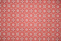 1940's Vintage Wallpaper - Red and White Geometric with Black Accents