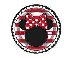 Minnie Roja Plato Redondo 7 Discovery, Minnie Mouse, Decorative Plates, Create, Dishes, Red