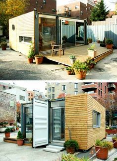 Homes made from shipping containers. This is one of the coolest ideas i've seen!