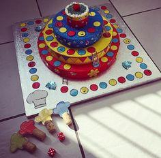 gezien op facebook: Taartenspelletje gemaakt voor in de kleuterklas! *Welke bakker geraakt het eerste tot bij de lekkere cupcake?*