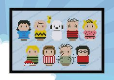 Peanuts parody  Cross stitch PDF pattern