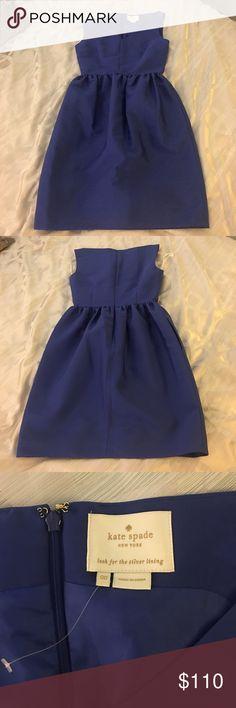 Kate Spade Blue Cupcake Skirt Dress - Size 00 Kate Spade Blue Dress - Size 00 worn once for 2 hours, practically new! kate spade Dresses Mini