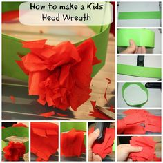 Make your own paper heat wreath. Holiday Crafts For Kids, Easy Crafts For Kids, Crafts To Make, Fun Crafts, Art For Kids, Holiday Activities, Big Kids, Easy Homemade Gifts, Homemade Crafts