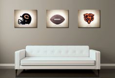 Discount set of 3 Chicago Bears photo print,boys room decor,kids room decor,Chicago Bears,football decor,Chicago decor,football wall art by IprayStudio on Etsy https://www.etsy.com/listing/244596974/discount-set-of-3-chicago-bears-photo