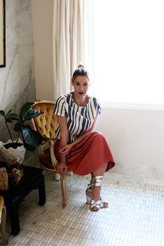 stay classy   #OOTD   Topshop - shirt  ZARA - skirt  Topshop - shoes  www.boxygirl.com