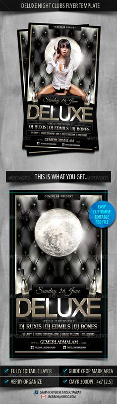 Deluxe Night Club Party Flyer Template #GraphicRiver
