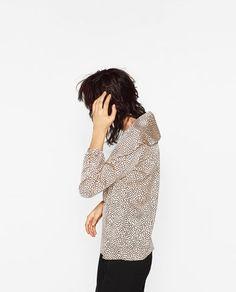 Imagem 5 de BLUSA FOLHO DUPLO ESTAMPADO da Zara