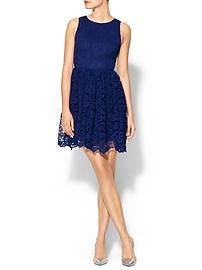 Pim + Larkin Sleeveless Lace Mini Dress