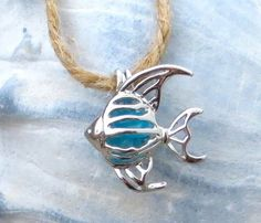 Tropical Blue Angel Fish Pendant Necklace Silver from WaveofLife on Etsy. Saved to Accessories. Angel Fish, Blue Angels, Vintage Jewelry, Unique Jewelry, Rhinestone Jewelry, Metal Clay, Silver Pendant Necklace, Beautiful Necklaces, 3 D