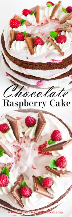 Chocolate Raspberry Cake ~ Video Tutorial {Tatyana's Everyday Food}