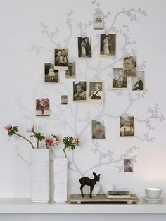 This #idea is just fantastic! I would love to have something like this in my home as I love to look at old pictures of my family and know my family tree.