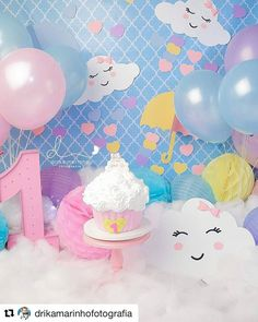 First Birthday Party Decor Ideas Sunshine Birthday Parties, First Birthday Party Themes, Adult Party Themes, 1st Birthday Cake Smash, Baby Birthday, Birthday Party Decorations, Rainbow Theme, Bday Girl, Unicorn Party