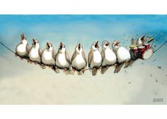 Trommis | Lisa Aisato - nettbutikk Old Postcards, Illustration Art, Birds, Lisa, Painting, Drawing Drawing, Art, Bird, Painting Art